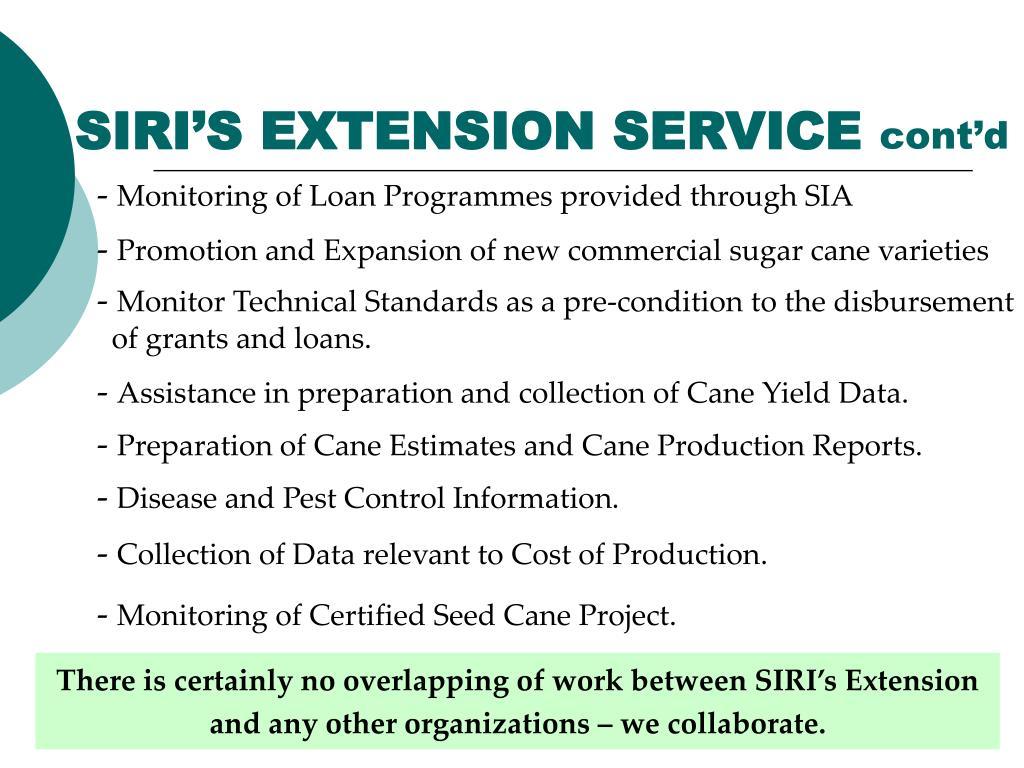 SIRI'S EXTENSION SERVICE