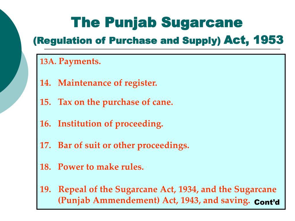 The Punjab Sugarcane