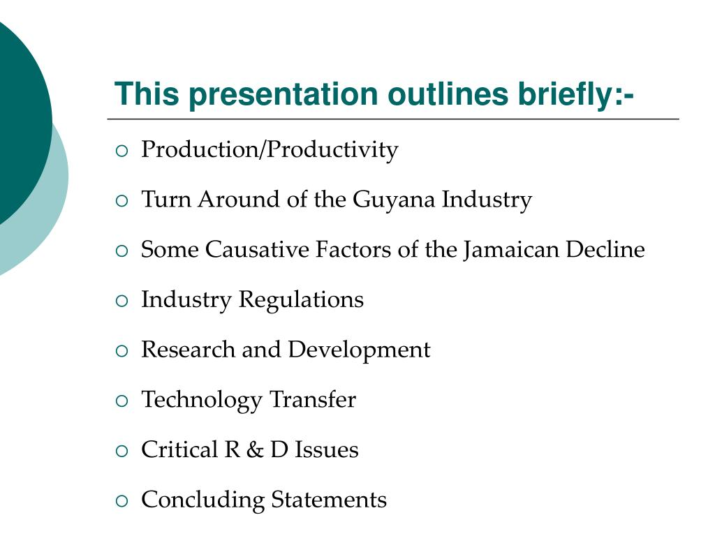 This presentation outlines briefly:-