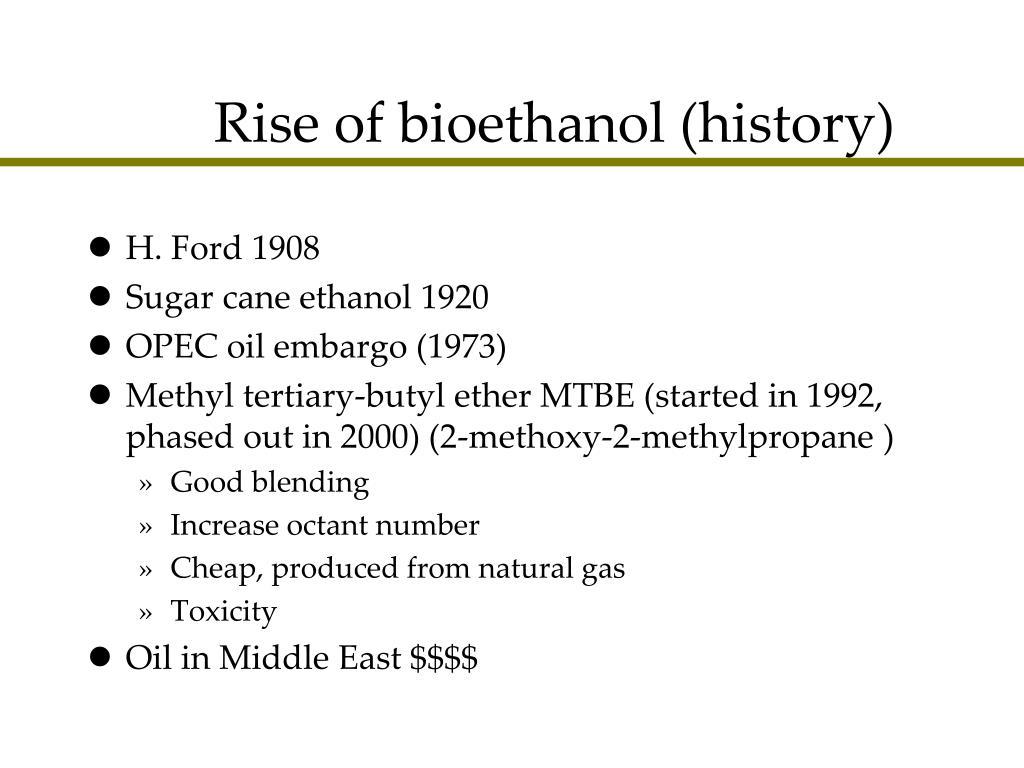 Rise of bioethanol (history)