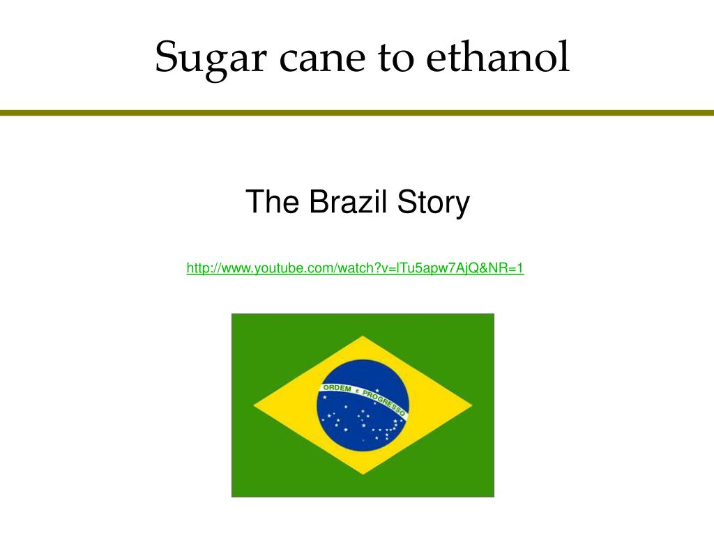 Sugar cane to ethanol