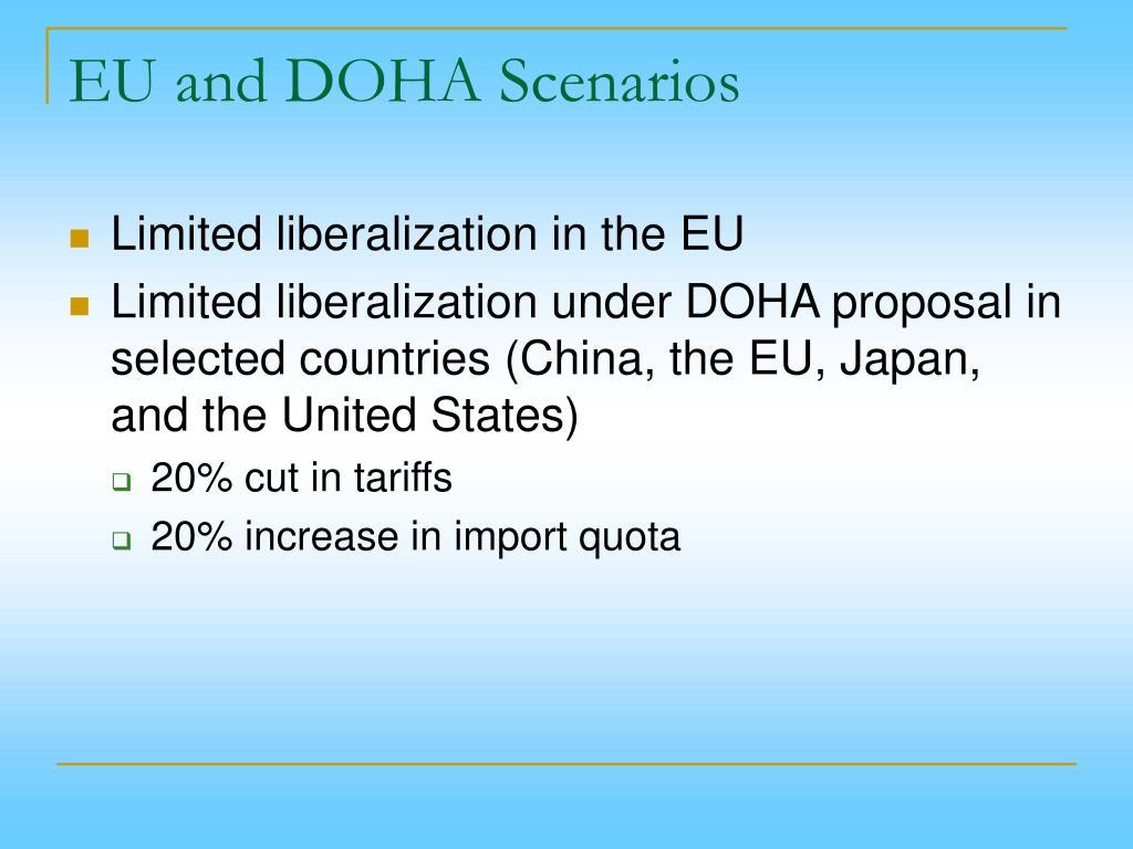 EU and DOHA Scenarios