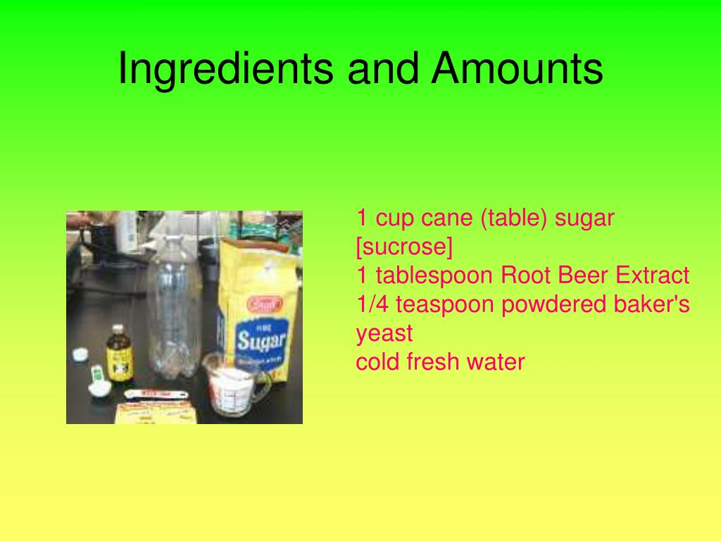 Ingredients and Amounts