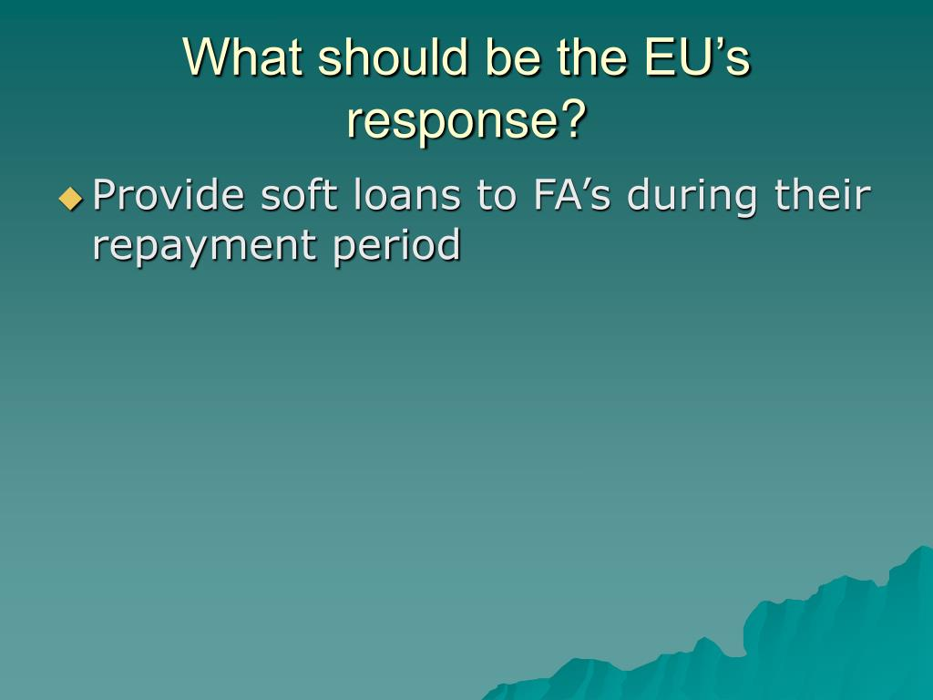 What should be the EU's response?
