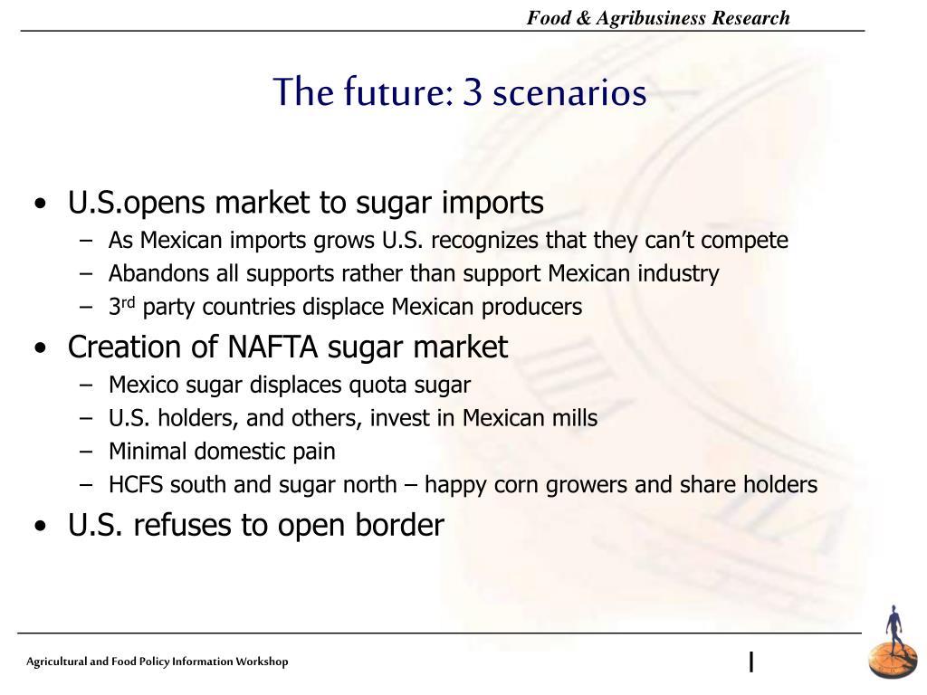 The future: 3 scenarios
