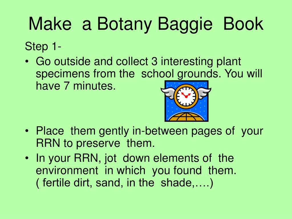 Make  a Botany Baggie  Book