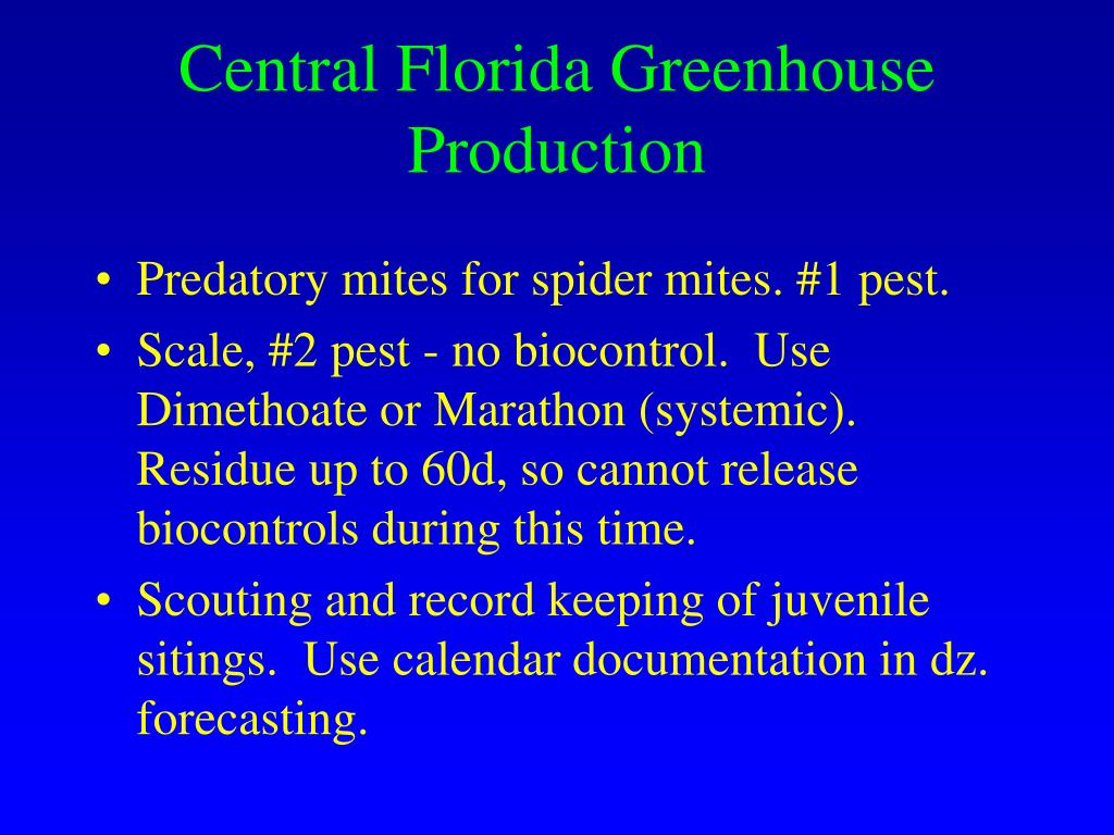 Central Florida Greenhouse Production