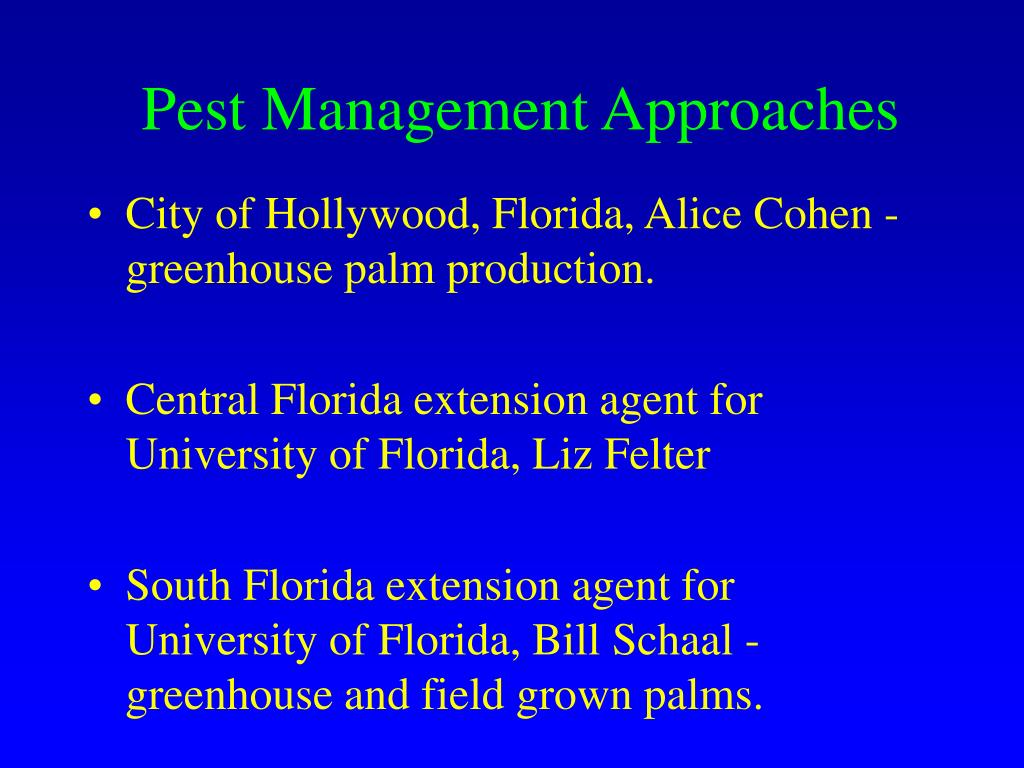 Pest Management Approaches