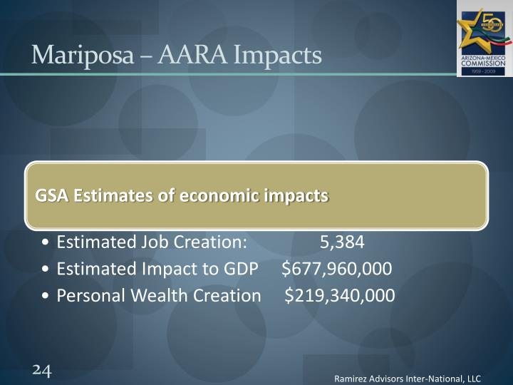 Mariposa – AARA Impacts