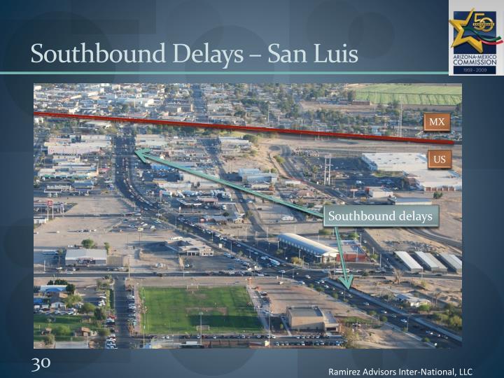 Southbound Delays – San Luis