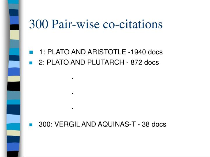 300 Pair-wise co-citations