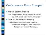 co occurrence data example 1