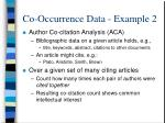 co occurrence data example 2