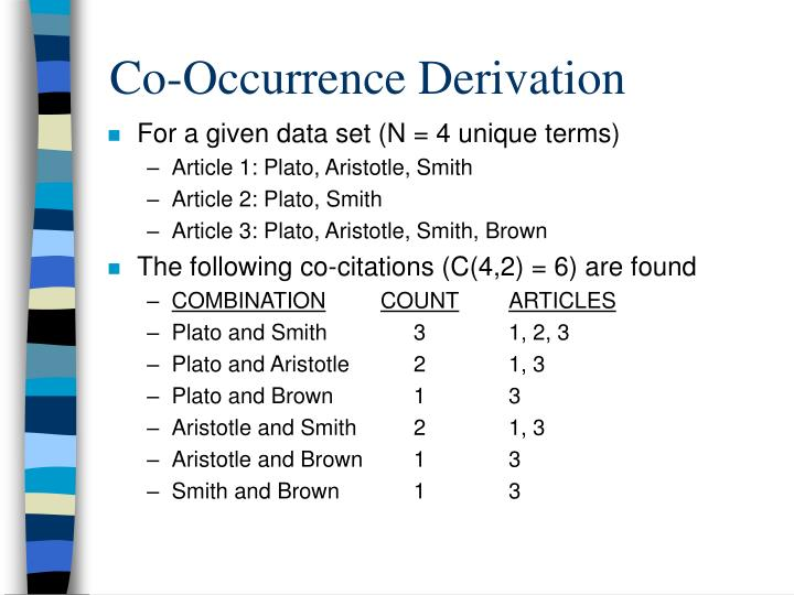 Co-Occurrence Derivation