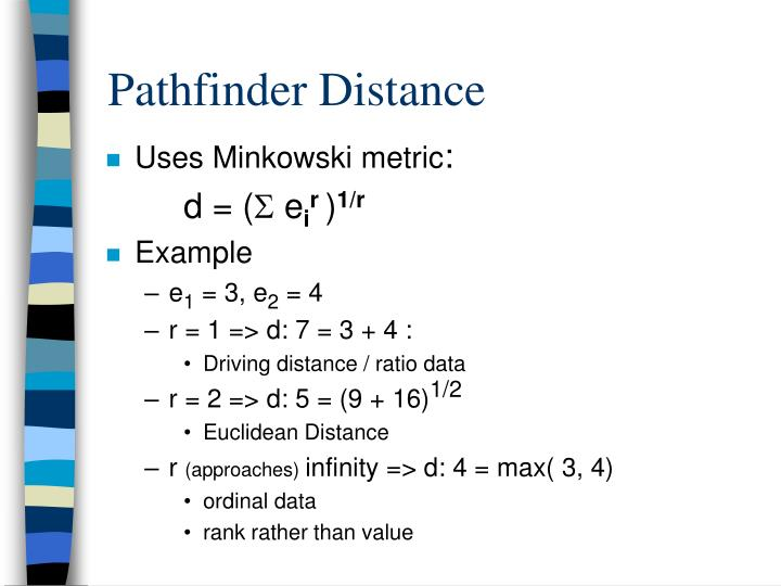 Pathfinder Distance