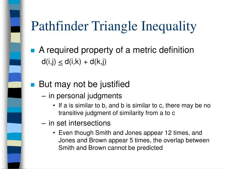 Pathfinder Triangle Inequality
