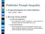 pathfinder triangle inequality