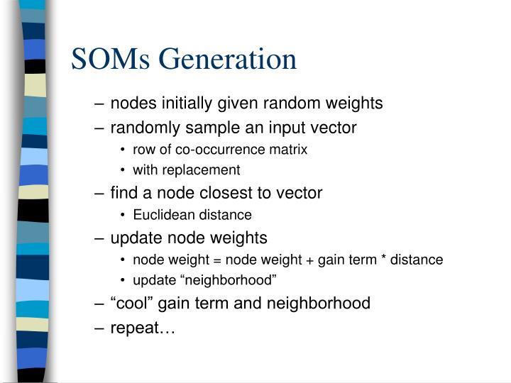 SOMs Generation