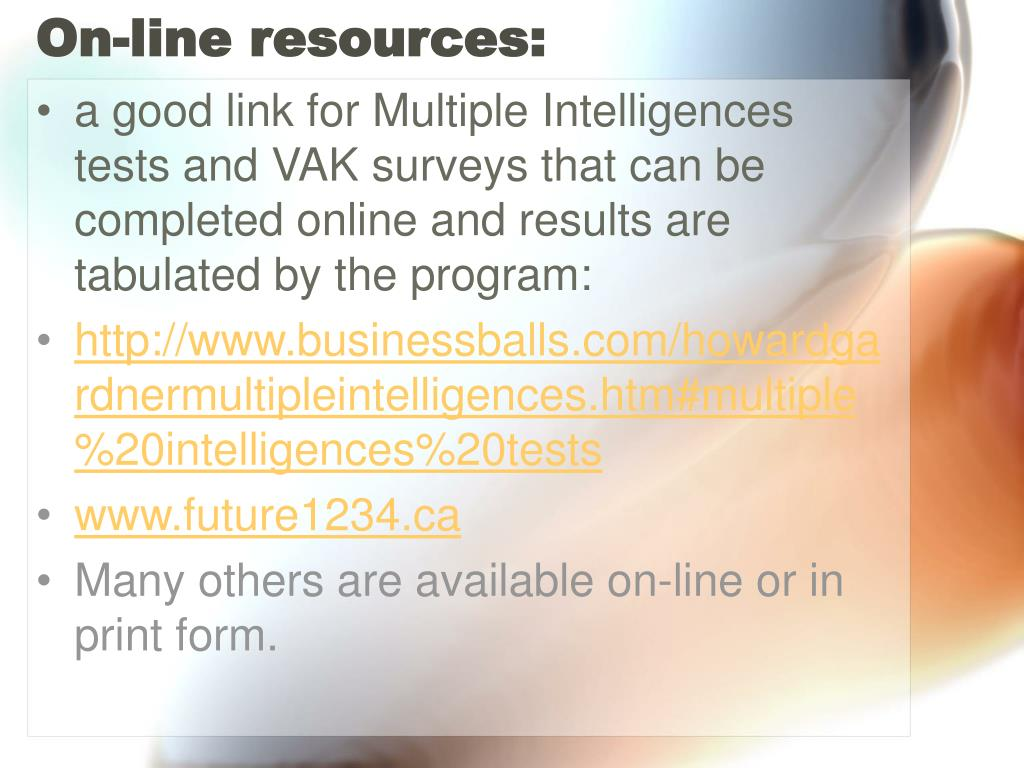 On-line resources: