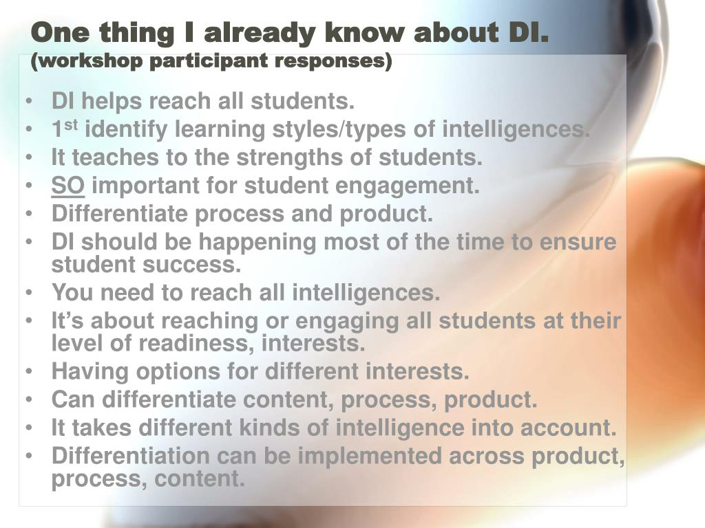 One thing I already know about DI.