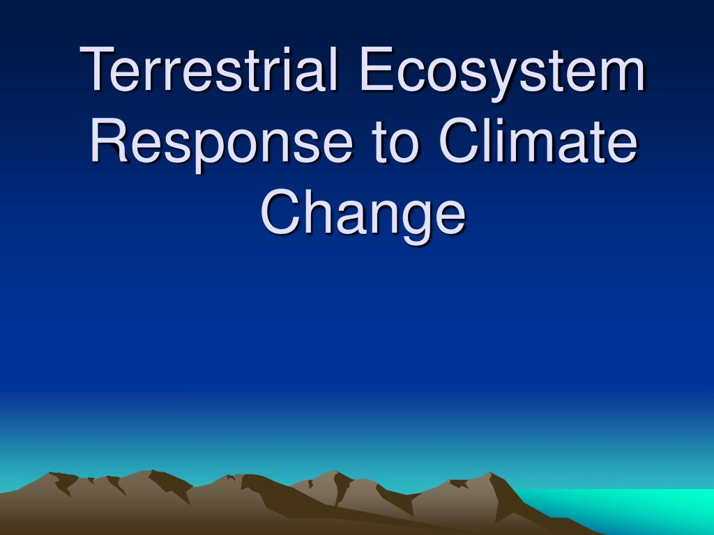 Terrestrial Ecosystem Response to Climate Change