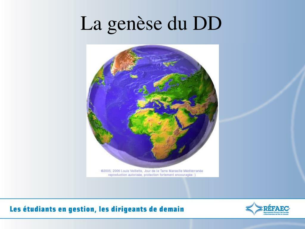 La genèse du DD