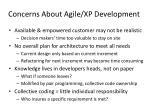 concerns about agile xp development