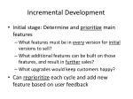 incremental development29