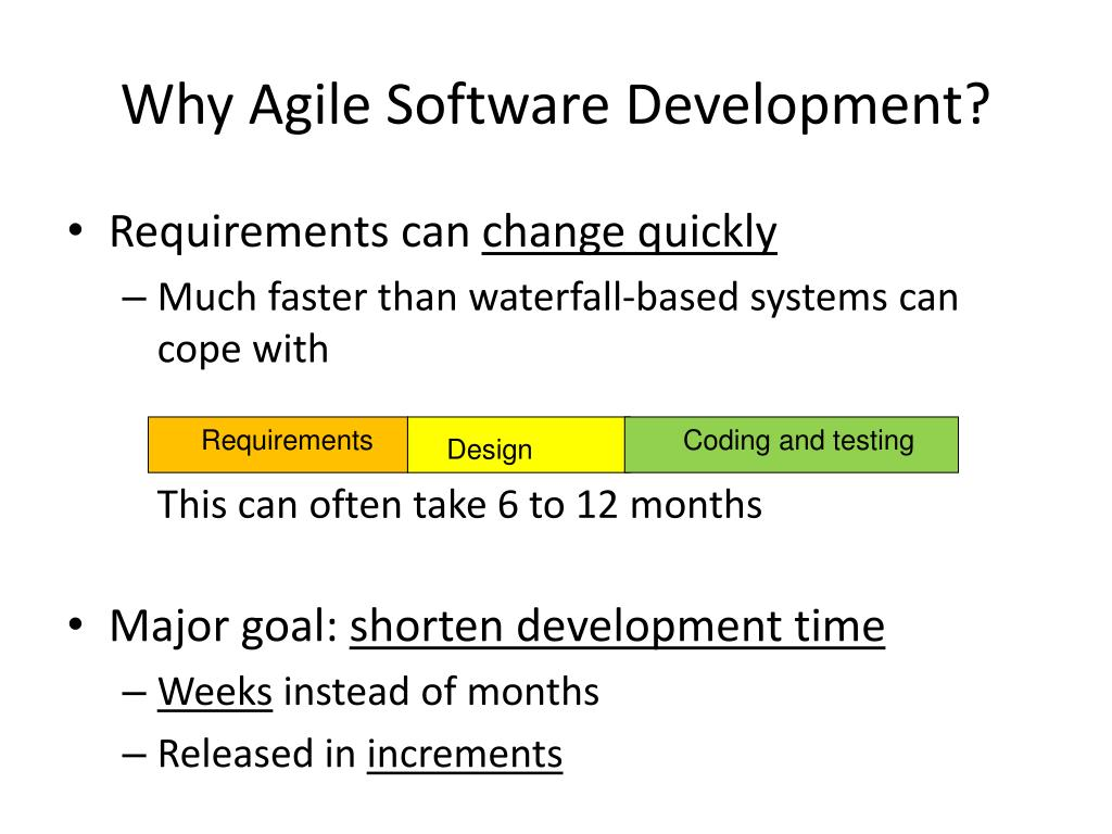 Why Agile Software Development?