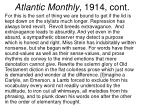 atlantic monthly 1914 cont
