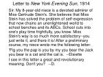 letter to new york evening sun 1914