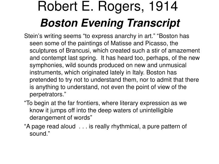 Robert E. Rogers, 1914