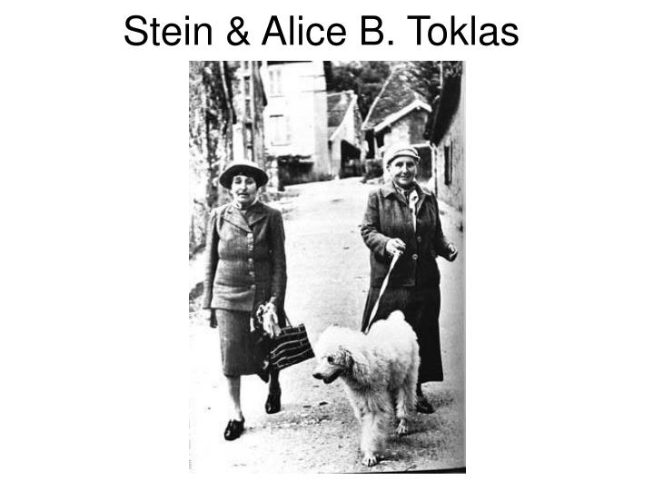 Stein & Alice B. Toklas