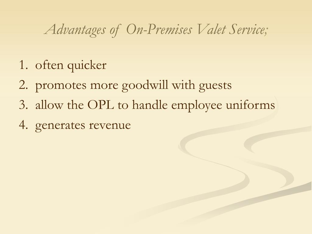 Advantages of On-Premises Valet Service