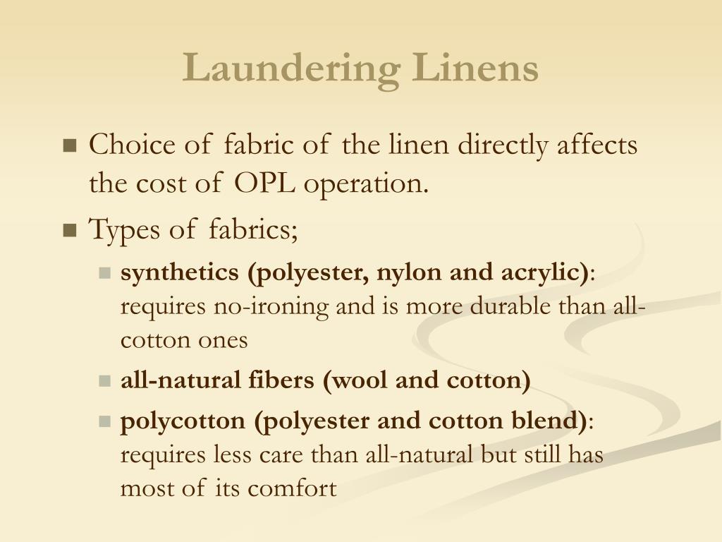 Laundering Linens