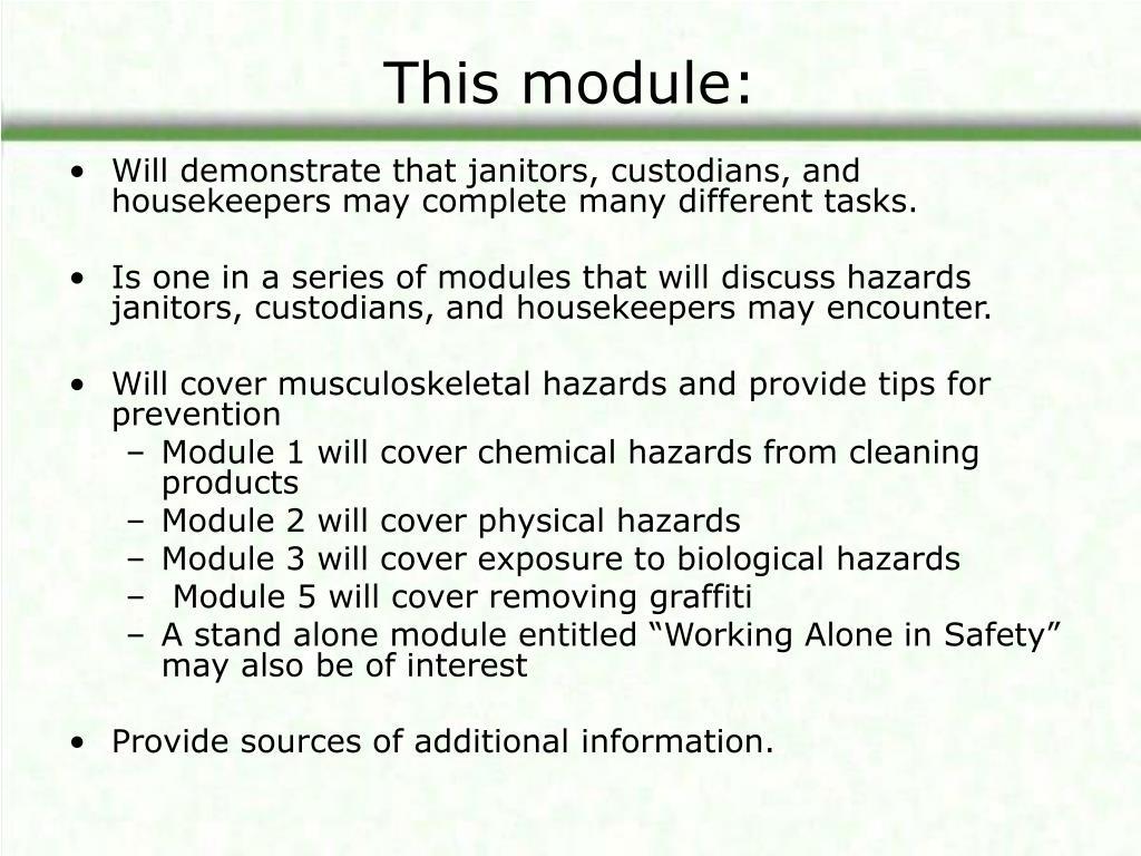 This module: