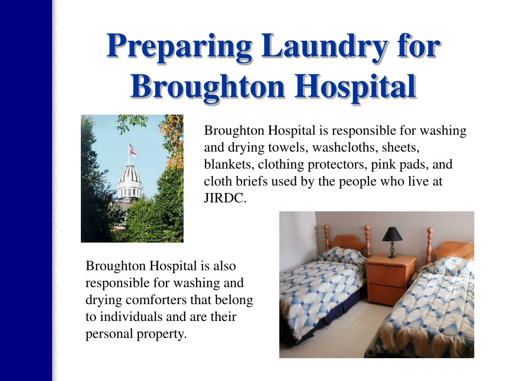 Preparing Laundry for Broughton Hospital