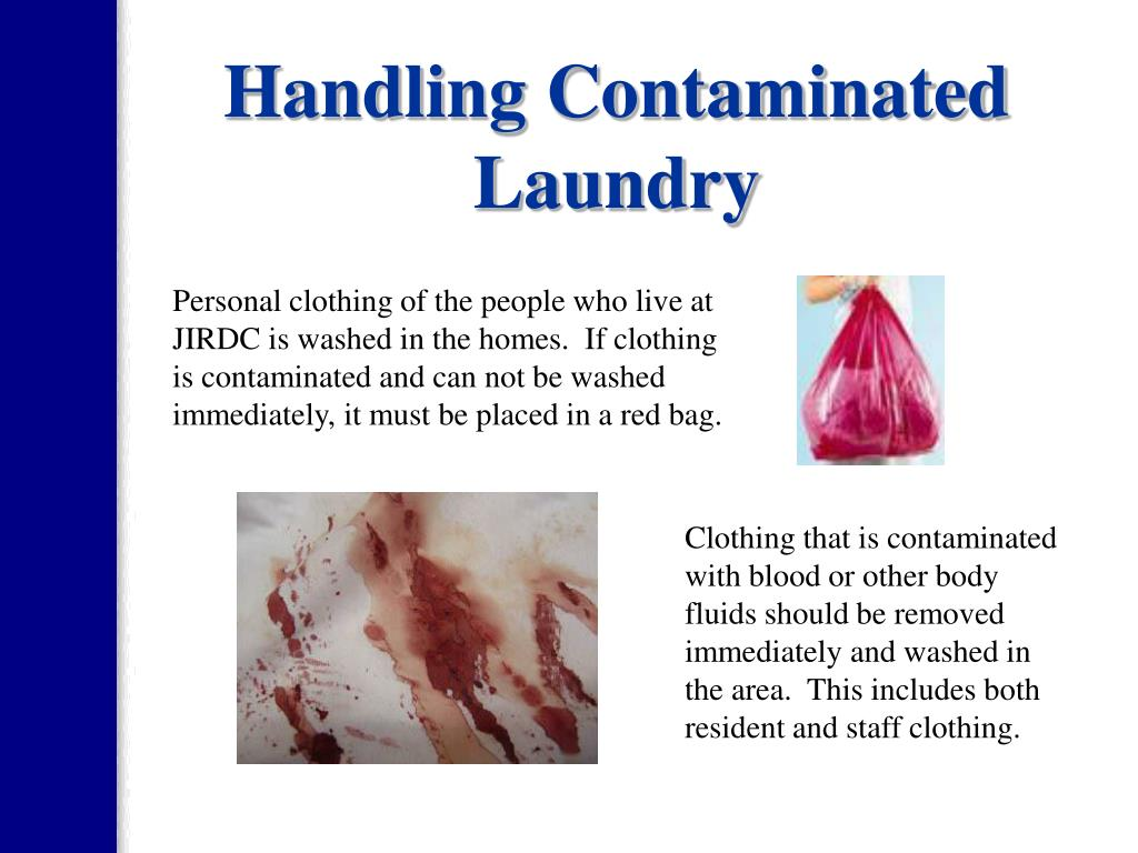 Handling Contaminated Laundry