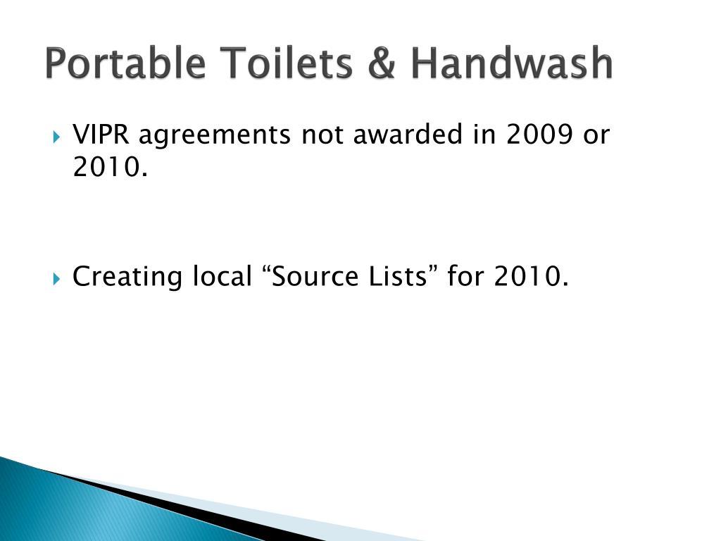 Portable Toilets &
