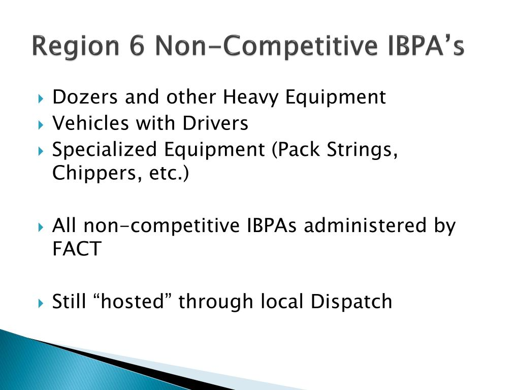 Region 6 Non-Competitive IBPA's