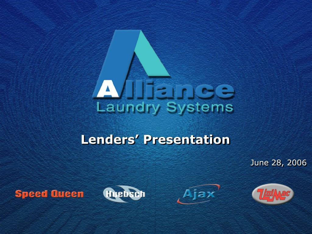 lenders presentation