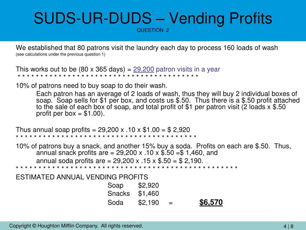SUDS-UR-DUDS – Vending Profits