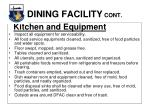 dining facility cont