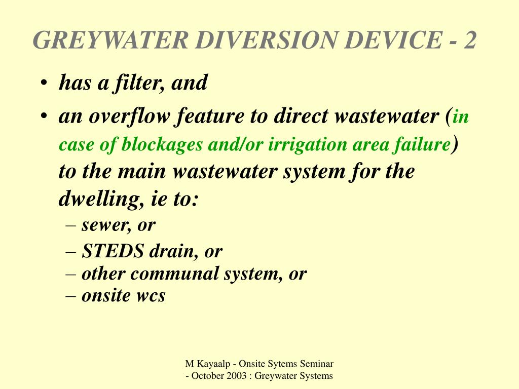 GREYWATER DIVERSION DEVICE - 2