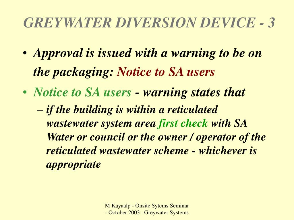 GREYWATER DIVERSION DEVICE - 3