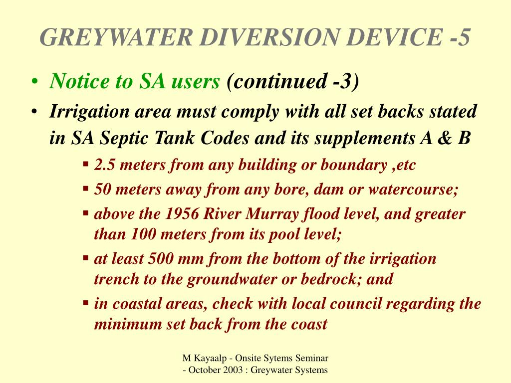 GREYWATER DIVERSION DEVICE -5