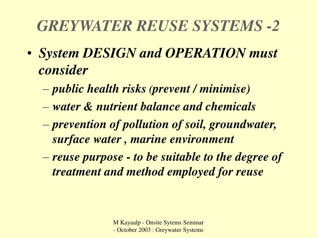 GREYWATER REUSE SYSTEMS -2
