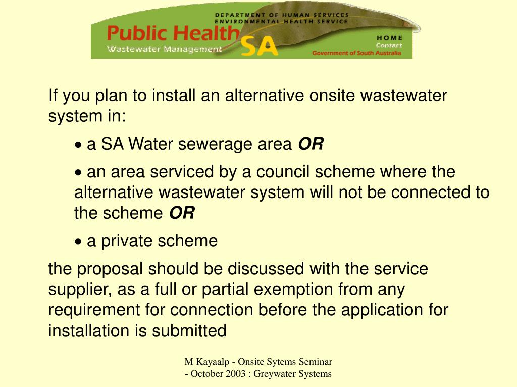If you plan to install an alternative onsite wastewater system in: