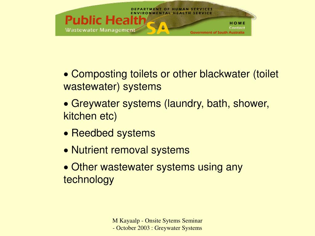 Composting toilets or other blackwater (toilet  wastewater) systems