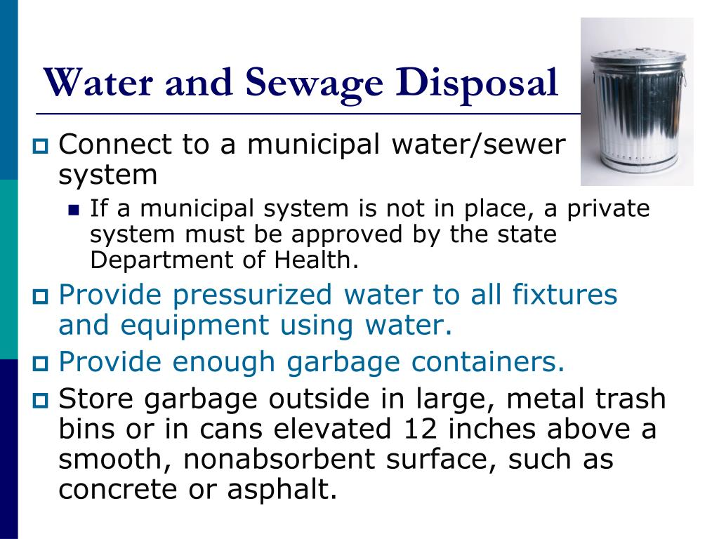 Water and Sewage Disposal